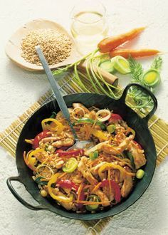 Low cholesterol recipes: vegetable stir-fry with turkey meat   Food & Drink