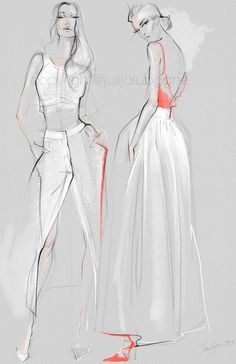 illustrations were inspired by 2016 Fashion Week. I illustrate on Wacom Ci These illustrations were inspired by 2016 Fashion Week. I illustrate on Wacom Ci.These illustrations were inspired by 2016 Fashion Week. I illustrate on Wacom Ci. Illustration Mode, Fashion Illustration Sketches, Fashion Sketchbook, Fashion Design Sketches, Fashion Drawings, Fashion Design Illustrations, Sketch Fashion, Pattern Illustration, Character Illustration