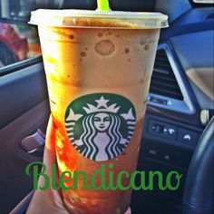 """How to order the Starbucks """"blendicano""""! About 10 calories for a venti but same taste as a frappuccino. Low Calorie Starbucks Drinks, Low Carb Drinks, Starbucks Recipes, Diet Drinks, Coffee Recipes, Yummy Drinks, Sugar Free Starbucks Drinks, Healthy Starbucks Food, Healthy Drinks"""