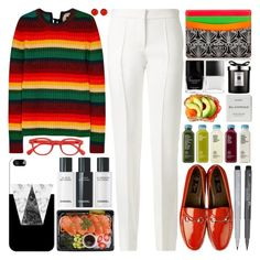 """""""Striped wool jumper"""" by barbarela11 ❤ liked on Polyvore featuring N°21, Liberty, Victoria Beckham, See Concept, Faber-Castell, Butter London, Casetify, Byredo and Jo Malone"""