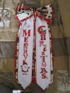 MERRY CHRISTMAS - Fiocco fuori-porta_ Natale 2012 - Dall'album di Sonia76