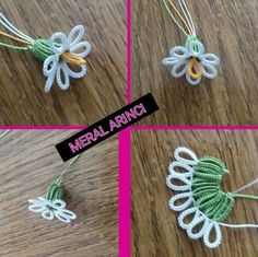 "Клуб Фриволите ""Items similar to narcissus flower tatting pattern on Etsy"" Shuttle Tatting Patterns, Needle Tatting Patterns, Crochet Stitches, Crochet Patterns, Tatting Jewelry, Tatting Lace, Beaded Flowers, Crochet Flowers, Irish Crochet"