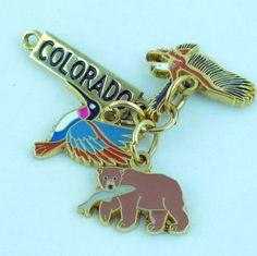 #Colorado Dangling Charm Eagle Bear Hummingbird