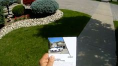 Instant direct mail piece. Luxury car was parked in front of people's home. A picture was taken and that picture became the center piece for the instant customized direct mail piece.