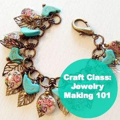 Craft Class: Jewelry Making 101 - learn all the basics in this fun video with @Candace Majeska Cooper to begin jewelry crafting in minutes!