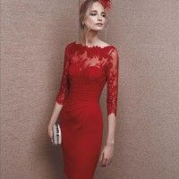 Short Red Chiffon Dress - I really don't know why but there is something about a lady in a red dress which cries sexiness. Half Sleeve Dresses, 15 Dresses, Women's Fashion Dresses, Evening Dresses, Bride Dresses, Party Dresses, Half Sleeves, Occasion Dresses, Tulle Dress