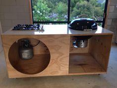 DIY weber bbq outdoor kitchen dad made
