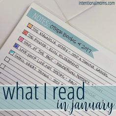 Trying to read more books in 2017? Follow along as we read & review some of our favorite books from January! via @intentionalmoms