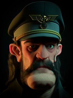 [image] Title: Lemmy Kilmister - Tribute Name: luisomar Hi Guys! This is my last project, a tribute to Lemmy Kilmister from Motorhead. Inspired on Serge Biraut concept with some changes. Zbrush Character, 3d Model Character, Game Character Design, Character Design Animation, Character Modeling, Character Creation, Character Design Inspiration, Comic Character, Character Concept