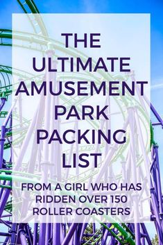 What to Bring to an Amusement Park