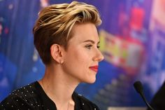 """Scarlett Johansson Photos Photos - Scarlett Johansson attends the official press conference for the Paris Premiere of the Paramount Pictures release """"Ghost In The Shell"""" at Hotel Le Bristol on March 22, 2017 in Paris, France. - 'Ghost In The Shell' Paris Press Conference"""