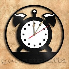 Wall Clock Vintage Clock Vinyl Record Clock by geoartcrafts, €23.00