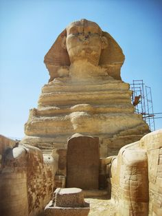 Dream Stele Between the Paws of the Great Sphinx of Giza. Giza Egypt, Pyramids Of Giza, Ancient Egypt, Ancient History, Cairo Museum, 3rd Millennium, Human Head, British Museum, Archaeology