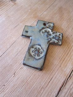 Easter clay cross by Knme on Etsy, $15.00