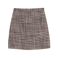 Missoni Tweed Mini Skirt (1,250 CNY) ❤ liked on Polyvore featuring skirts, mini skirts, bottoms, saias, high waisted skirts, short brown skirt, short skirts, button skirt and missoni
