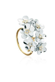 """Alex Monroe """"Forget Me Not"""" cluster ring"""