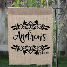 Personalized Yard Flag, perfect gift for anniversaries or newlyweds!