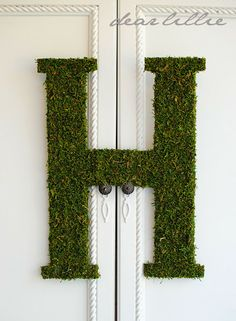 Dear Lillie: Oversized Moss Letter Tutorial and Some Photos of My Little Snuggle Bugs