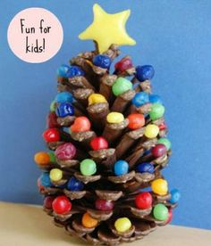 Simple DIY Christmas Craft Ideas for Kids - Rainbow Christmas Tree - Click PIN for 25 Holiday Decoration Ideas
