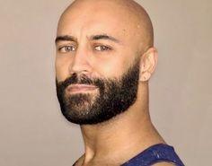 Shaved Head With Beard, Bald With Beard, Bald Men, Hairy Men, Stubble Beard, Beard Look, Bald Hair, Handsome Faces, Interesting Faces