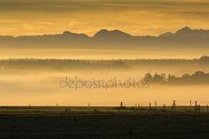Stáhnout - Východ slunce nad Alpami, Bavorsko, Německo, na podzim — Stock obrázek #16348143
