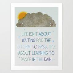 Dance in the Rain Art Print by Joanne Hawker - $15.00
