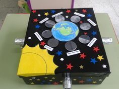 CAJA LUNAR. LA LUNA Y SUS FASES | Tú me aprendes Teaching Science, Science For Kids, Earth Science, Science Activities, Science Projects, Social Science, Educational Activities, Science And Nature, Science Experiments