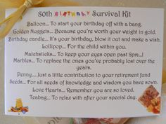 Image result for 80th birthday survival kit