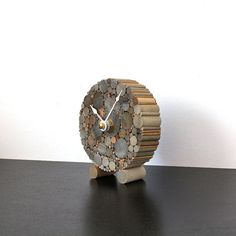 Small Desk Clock Rustic Chic Home Decor by TayberryDecor on Etsy