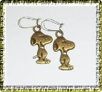 1 pr. Snoopy Pierced Earrings - (antique gold plated brass)    http://yardsellr.com/for_sale#!/1-pr-snoopy-pierced-earrings---antique-gold-plated-brass-3106945
