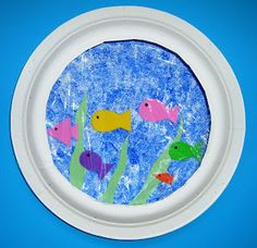 Paper Plate Fish Bowls | momstown arts and crafts