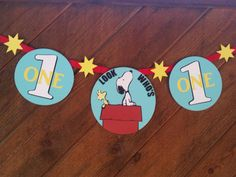 Snoopy party, Snoopy birthday, Peanuts party, Peanuts Movie party, Charlie Brown, Snoopy banner, Snoopy Highchair Banner, Birthday Party by KpDigitalCreations on Etsy