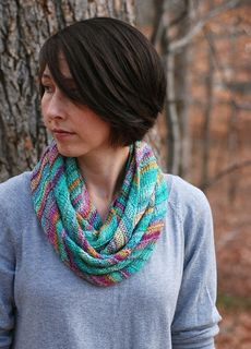 Soft handspun yarn is just perfect to make a cozy cowl.