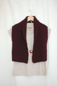 Coze: Easy Knit Vest Pattern – Laylock Knitwear Design - I love this blogger/designer! The paaterns she shares are delightful, her writing even more so.