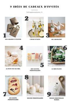 9 Idées de cadeaux d'invités mariage - Blog Mariage - #cadeaux #idees #invites #mariage - #DecorationMariage