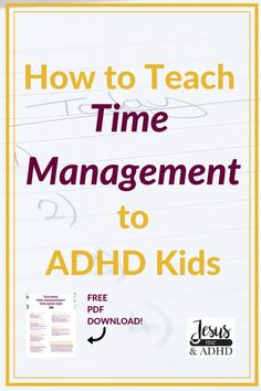This post shares how to teach time management skills to ADHD kids so that they can get things done without having to be micromanaged by their parents all the time I help. Time Management Activities, Time Management Strategies, Adhd And Autism, Adhd Kids, Adhd Facts, Adhd Help, Adhd Strategies, Kids Mental Health, Teaching Time