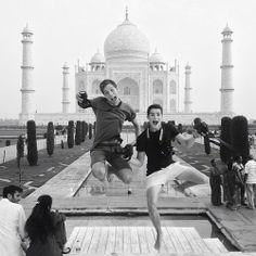 will and Finn in india