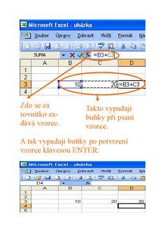 excel vzorce a výpočty Pc Mouse, Microsoft Excel, Map, Website, Location Map, Maps