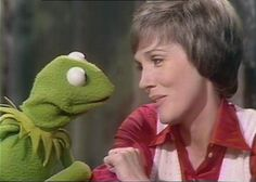 "(with Perry Como and the Muppets), ATV-ABC. Kermit the Frog and Julie Andrews singing ""It's Not Easy Being Green"" on a Sesame street special Her Music, Music Is Life, Tom Hiddleston Benedict Cumberbatch, Sesame Street Muppets, Julie London, Perry Como, Kermit The Frog, Julie Andrews, Perfect People"