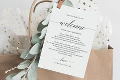 Wedding Itinerary Card, Welcome Note, Printable Wedding EighteenWeddingStore Templates Cards and Invites Wedding Invitation Matter, Wedding Invitations, All Design, Free Design, Welcome Note, Wedding Suite, Wedding Templates, School Design, Invitation Design