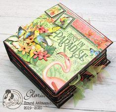 Scraps of Life: Graphic 45 Lost in Paradise Mini Album Mini Scrapbook Albums, Disney Scrapbook, Graphic 45, Mini Albums, Kiwi Lane Designs, Mini Album Tutorial, Heartfelt Creations, American Crafts, Mini Books