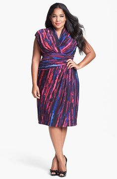 Suzi Chin for Maggy Boutique Stripe Jersey Faux Wrap Dress (Plus Size) available at #Nordstrom