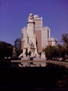Cervantes statue :-) Madrid, Statue, Sculpture