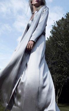 Silk Full Length Belted Coat by GALVAN for Preorder on Moda Operandi