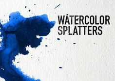 set of 32 high resolution splatter brushes! Created with artist-quality watercolor paint on cold press watercolor paper. Includes three high photo textures.  - Works with Photoshop 7 or newer  - May be used for commercial artwork  - No credits required  - 1250px and 2500px brushes available on website