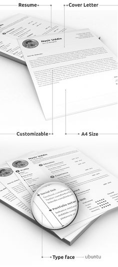 Free Resume \ Cover Letter PSD Templates (2 Colors) Free stuff - free resume and cover letter template