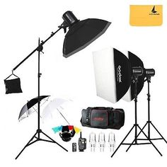 Godox E300 300W Photo Studio Strobe Flash lightFT-16 TriggerSoft box 50... New