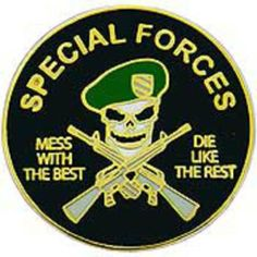 """Special Forces Mess With The Best Pin 1"""" by FindingKing. $8.99. This is a new Special Forces Mess With The Best Pin 1"""""""