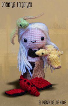 El Duende de los Hilos: Daenerys Targaryen en Amigurumi! Sem receita