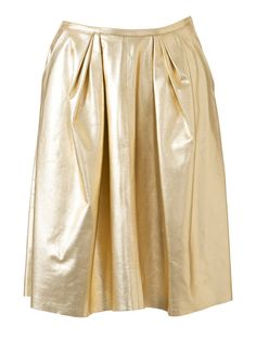 Pleated Skirt Burda Oct 2014 #106B Pattern $5.99: http://www.burdastyle.com/pattern_store/patterns/metallic-leather-skirt-102014